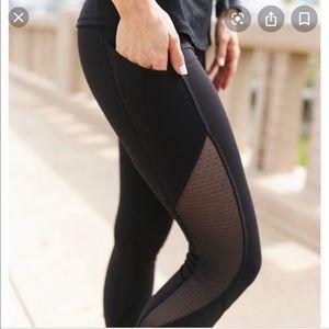 Lululemon dot mesh 7/8 leggings